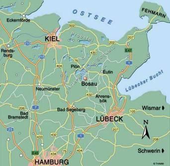 Holsteinische Schweiz Karte.Holsteinische Schweiz